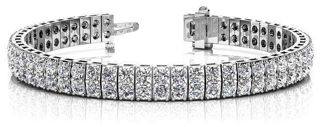 Timeless Two Row Diamond Tennis Bracelet