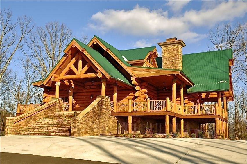 Gatlinburg Cabin Rental: Wilderness Lodge, Luxury Log Cabin, Gatlinburg W/  Amazing View