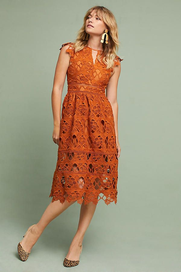 Slide View 1 Annika Lace Dress Orange Lace Dress Dresses Lace Dress