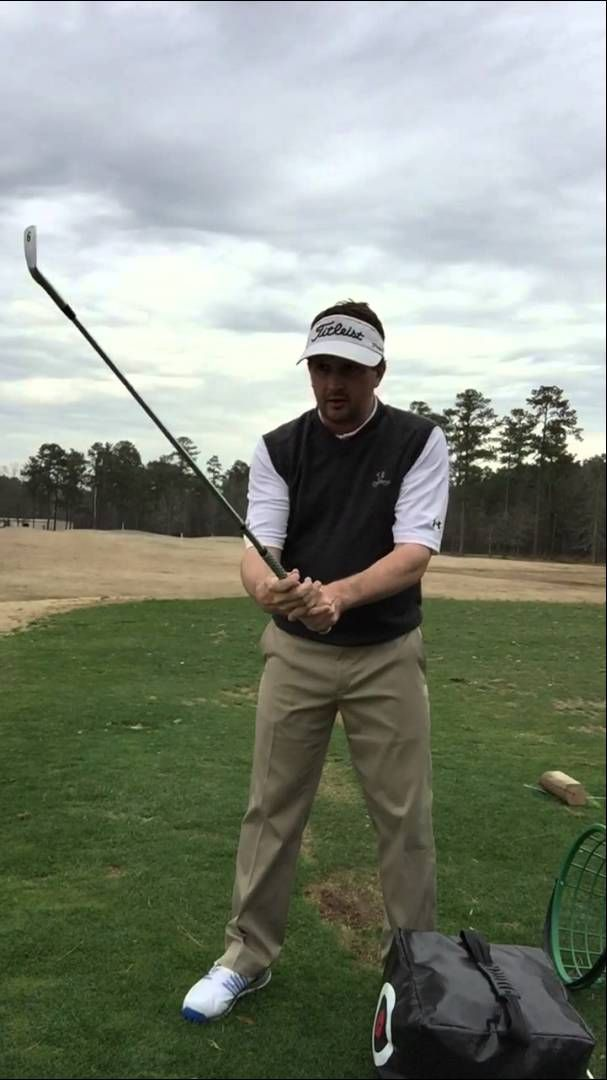 Retaining the lag via the right arm  Golf swing tips from