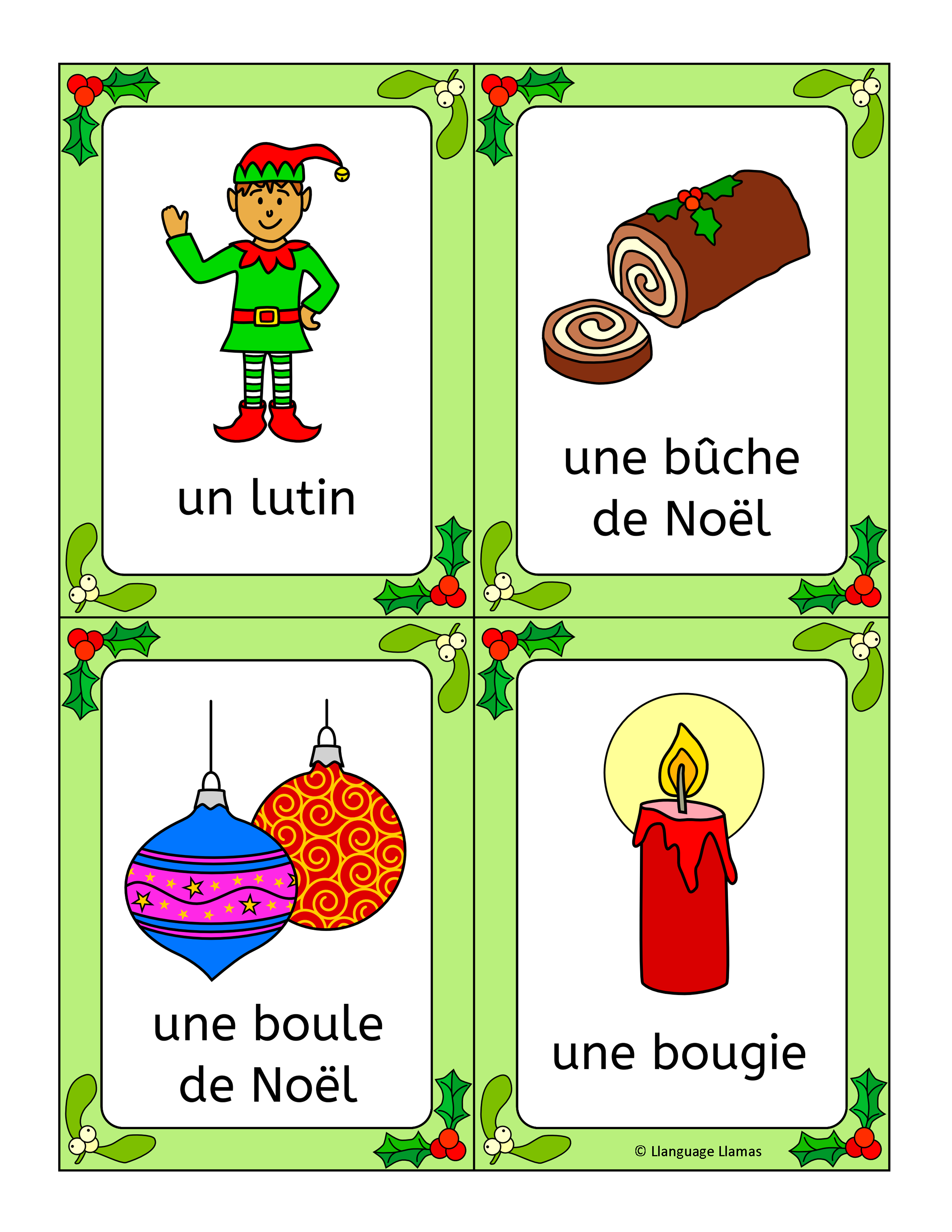 French Christmas - Noel - fun activities, worksheets, word wall ...