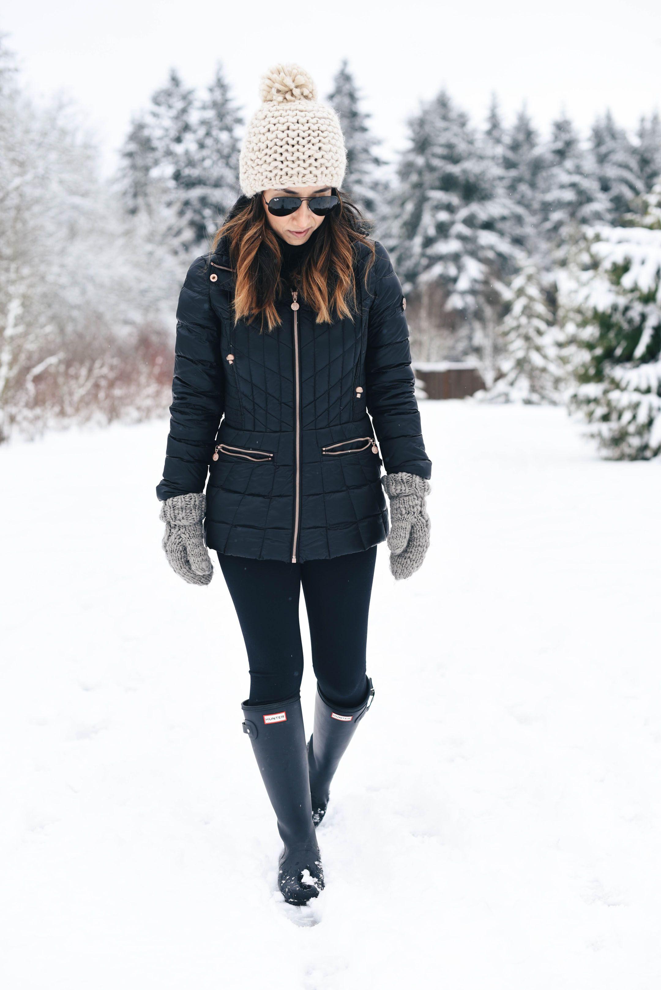 Hunter Tour Black rain boots | style | Pinterest | Black