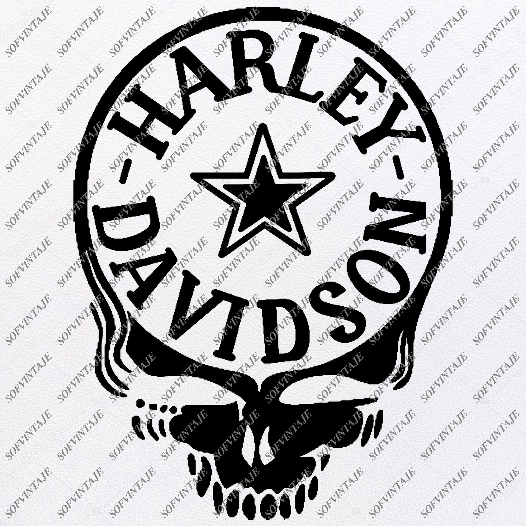 Harley Davidson Svg File Skull Harley Davidson Svg Design Clipart Tat Sofvintaje In 2020 Svg Design Silhouette Svg Vector Graphics