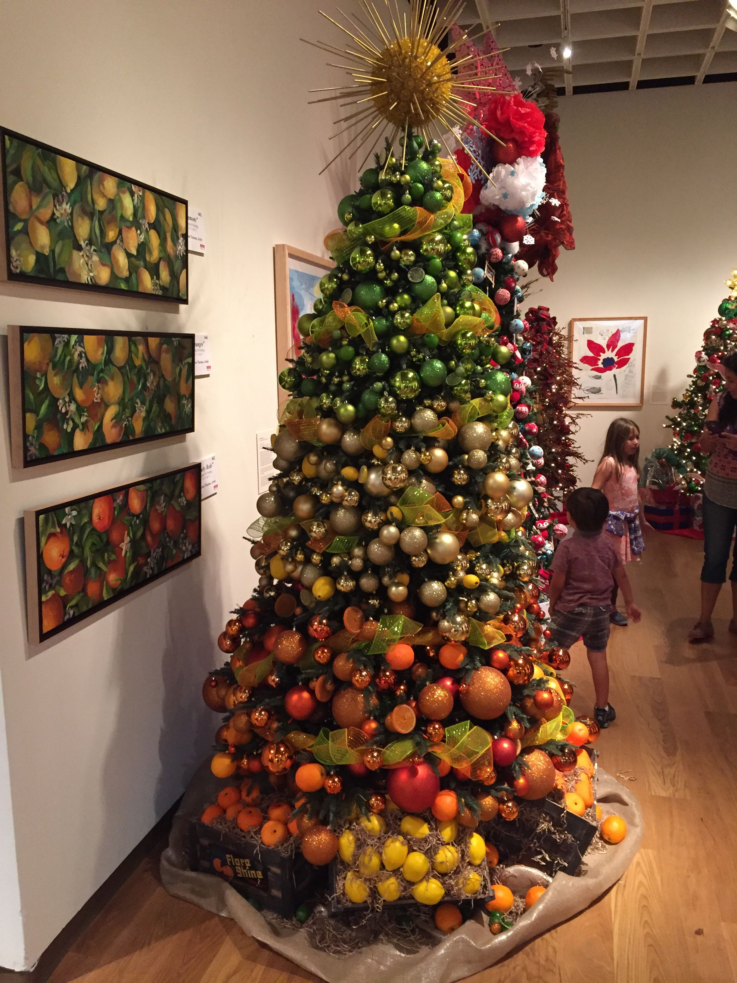 Florida Christmas Tree Ideas.Florida Citrus Themed Christmas Tree At Festival Of Trees