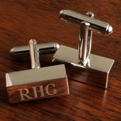 Uniquely Custom - Personalized Rectangular Cufflink Bars, $28.00 (http://www.uniquelycustom.com/personalized-rectangular-cufflink-bars/)  | UniquelyCustom | Personalized Gifts for Professionals | Personalized Executive Gifts