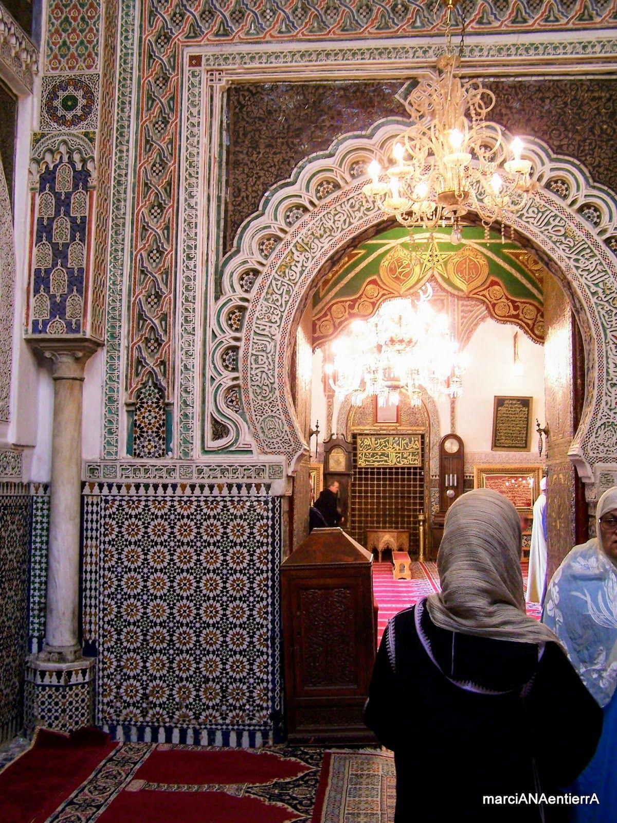 Entrada a la Mezquita Al Karaouine, Fez