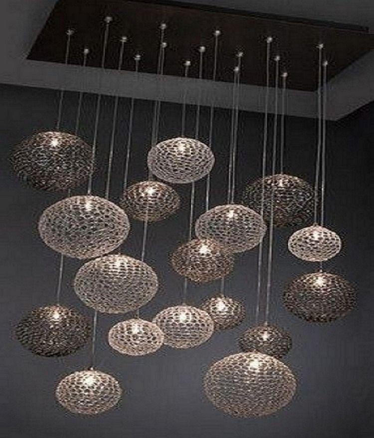 Pin De Julio En Iluminacion Techo Candiles Modernos Lampara Arana De Bricolaje Lamparas Colgantes