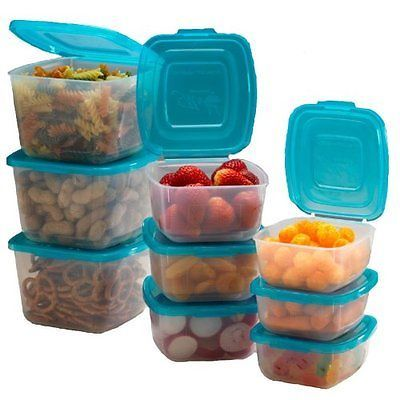 Mr Lid 10 Piece Attached Plastic Container Set As Seen On T V Pack