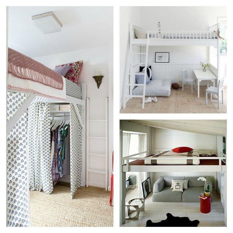 Id e de d co de petit espace et lit avec mezzanine d e c - Idee deco chambre ado petit espace ...