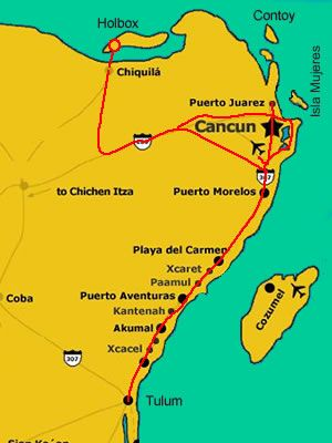 Map Holbox Island How To Get There Isla De Holbox Viajes A
