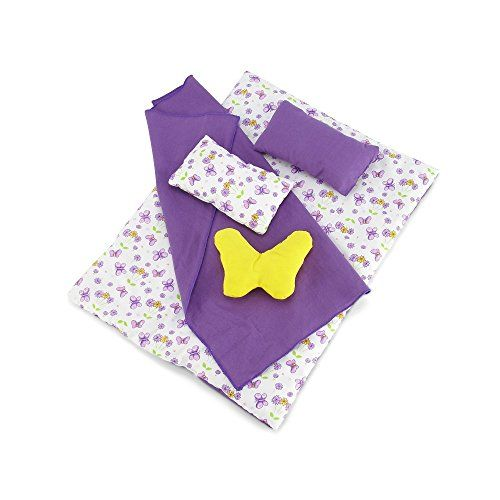 Snuggle up under the covers of this bright purple and yellow butterfly print, 18...