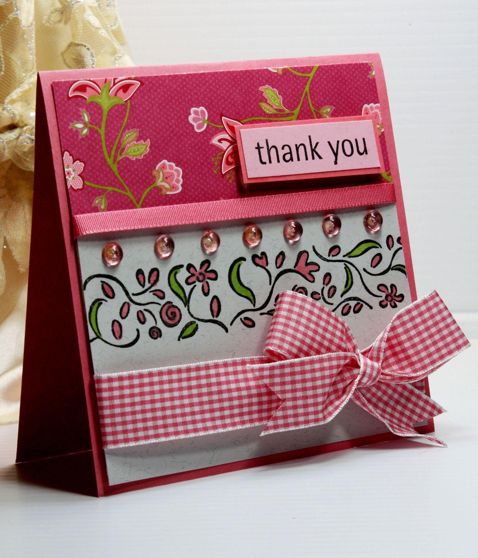 Thank You Card Greeting Card Handmade Card Stampin Up