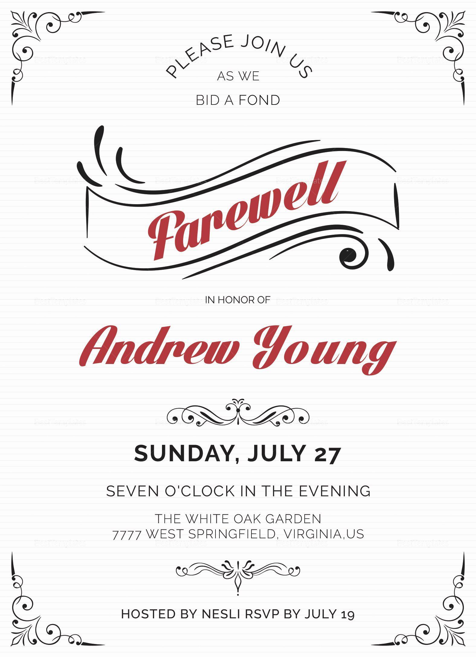 30 Farewell Party Invitation Wording In 2020 Party Invite