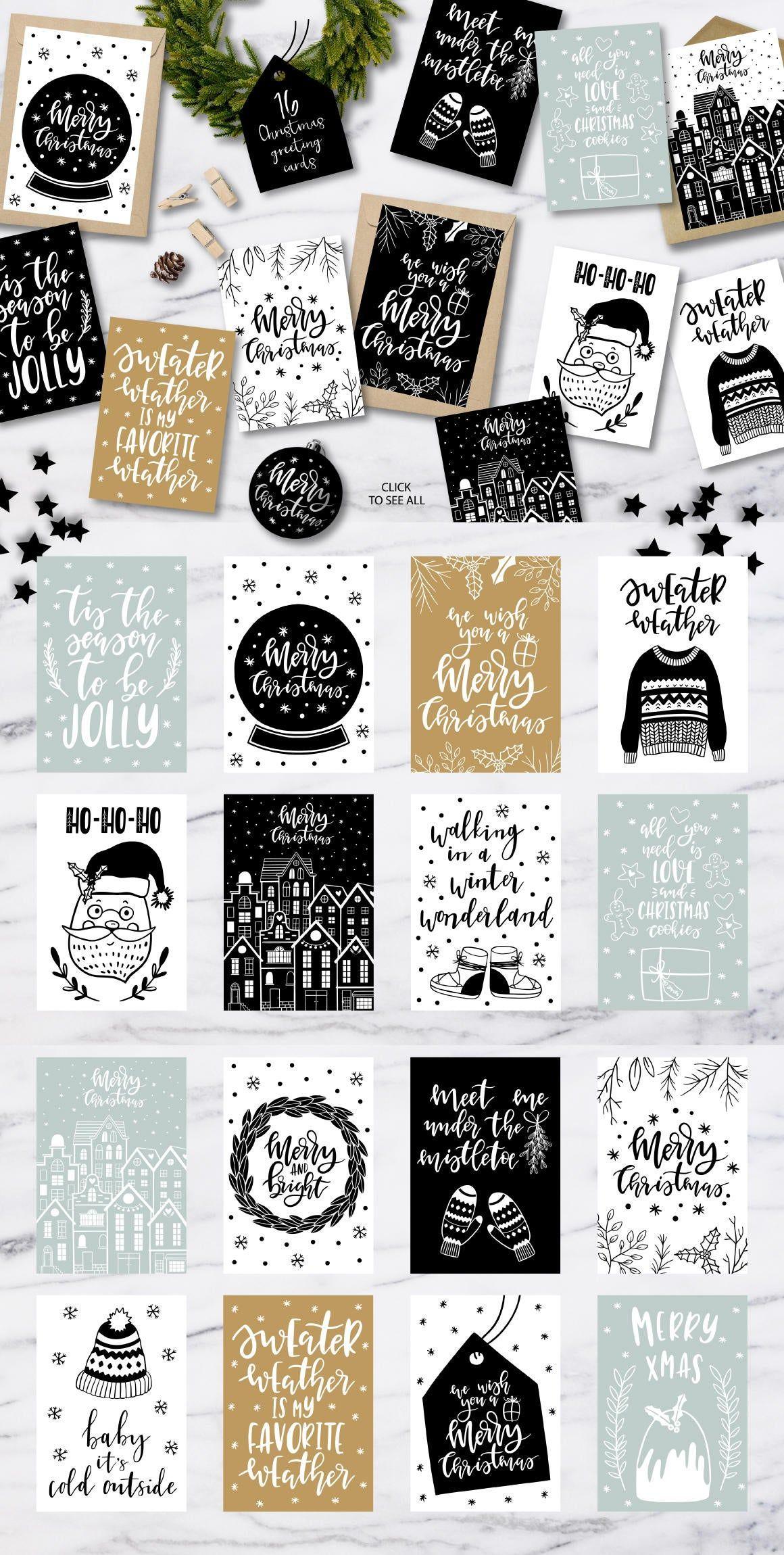 Christmas clipart / Christmas overlays / Christmas clip art / Scandinavian / Christmas quotes / clip art / PNG / card /advent calendar