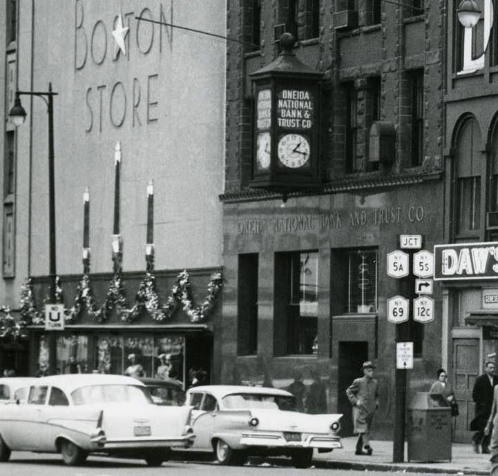 Downtown Utica 1950's - The Boston Store | Utica new york ...