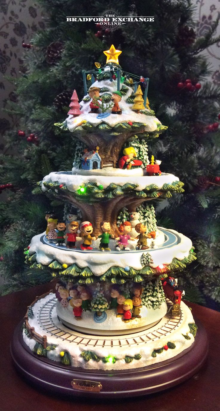 A Peanuts Christmas Tree With Lights Motion And Music Peanuts Christmas Tree Peanuts Christmas Retro Christmas Decorations