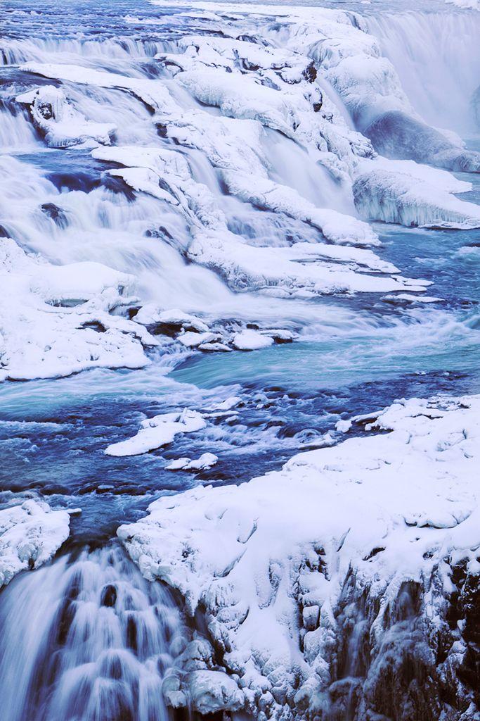 Gullfoss waterfall, Iceland. #chicvilleusa