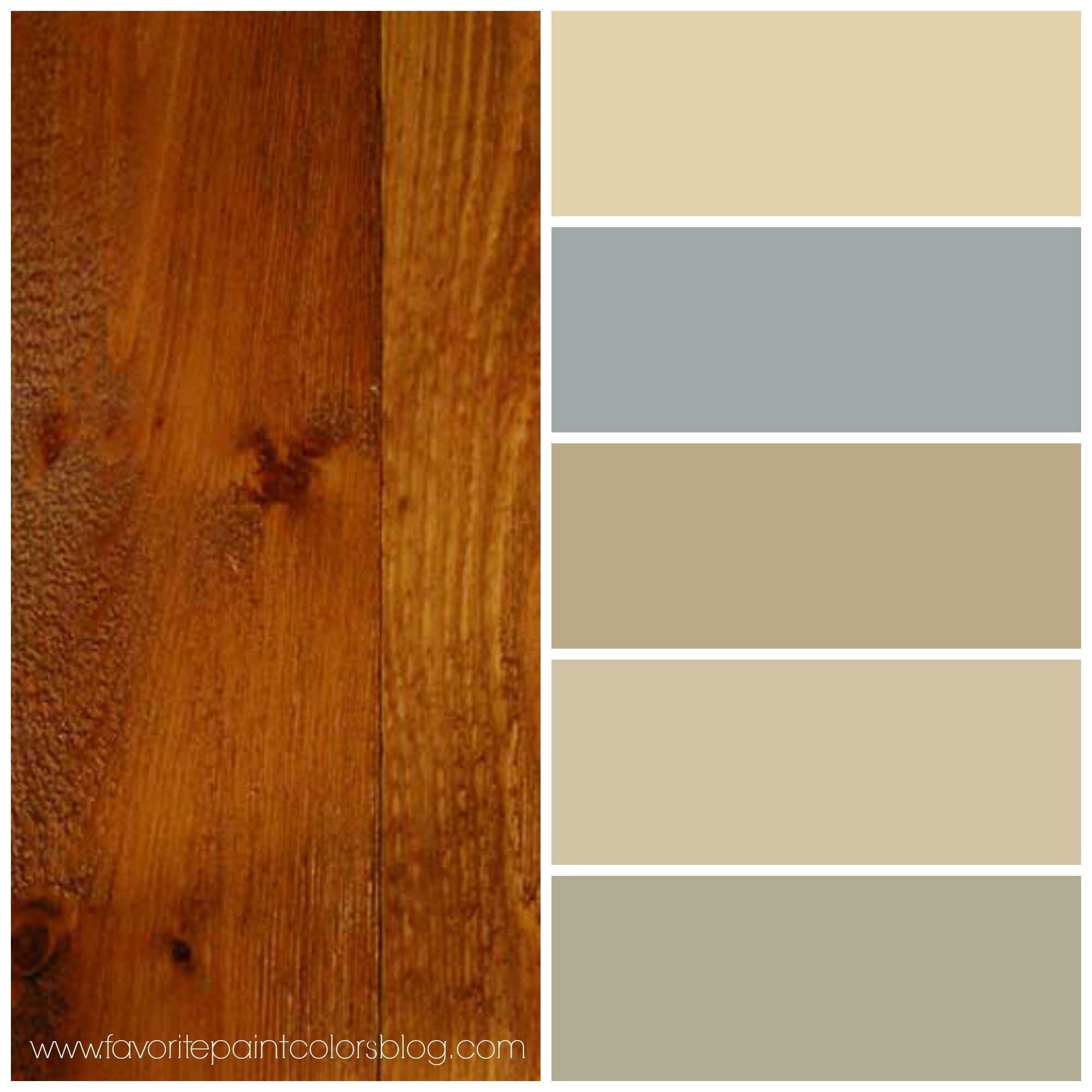 Reader\'s Question + More Paint Colors To Go With Wood (Red Pine ...