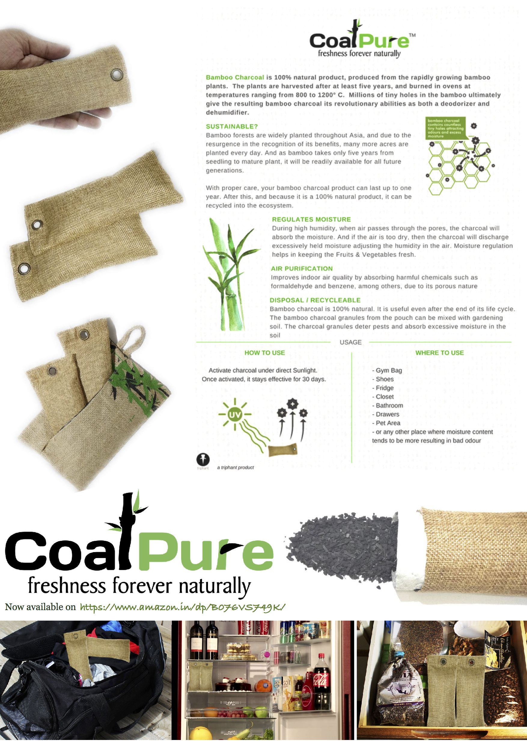 CoalPure / Coal Pure 100 Natural Bamboo Charcoal Air