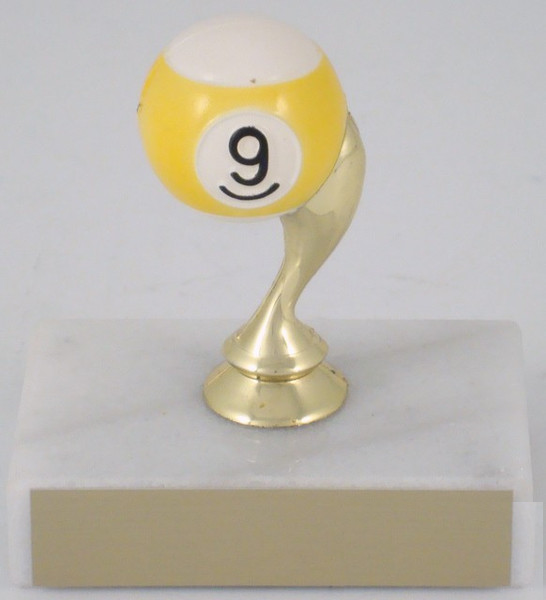 Billiards Trophy 9 Ball Engraved Plates Billiards Ball