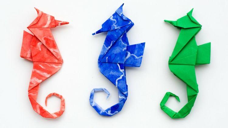 Meerestiere basteln mit Kindern – Faszinierende Unterwasserwelt aus allerlei Materialien - Dekoration Haus #origamianleitungen