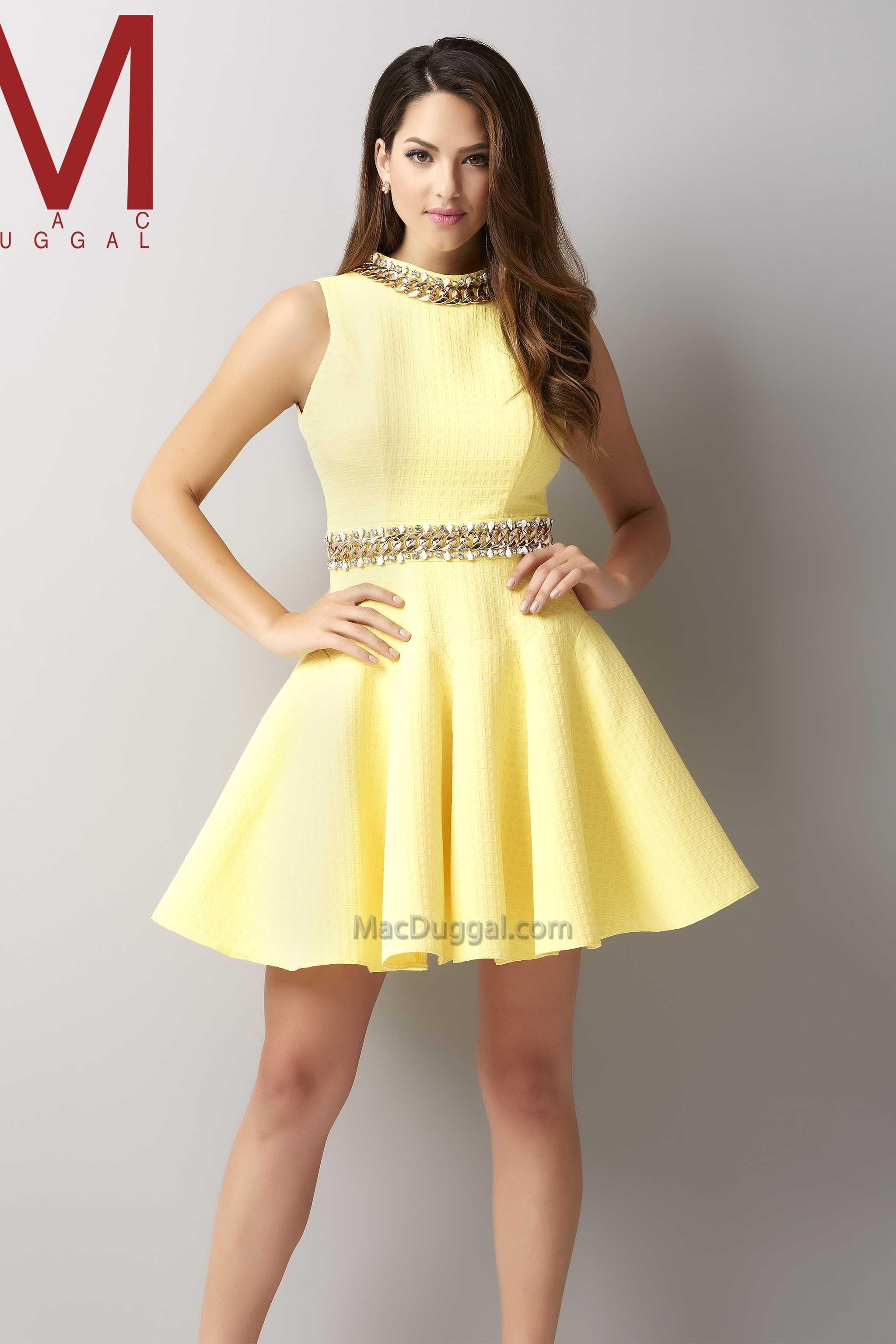 MacDuggal Style #30106 in Lemon Size 0 $278 | Pageant Interview and ...