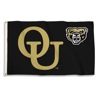 3 Ft. X 5 Ft. Flag W/Grommets Oakland Golden Grizzlies - 23040