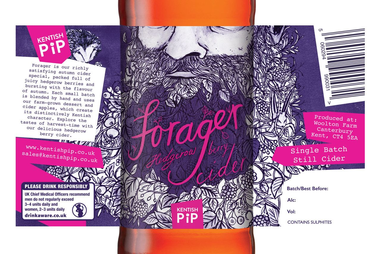Kentish Pip Craft Cider Cider Creative Packaging Design