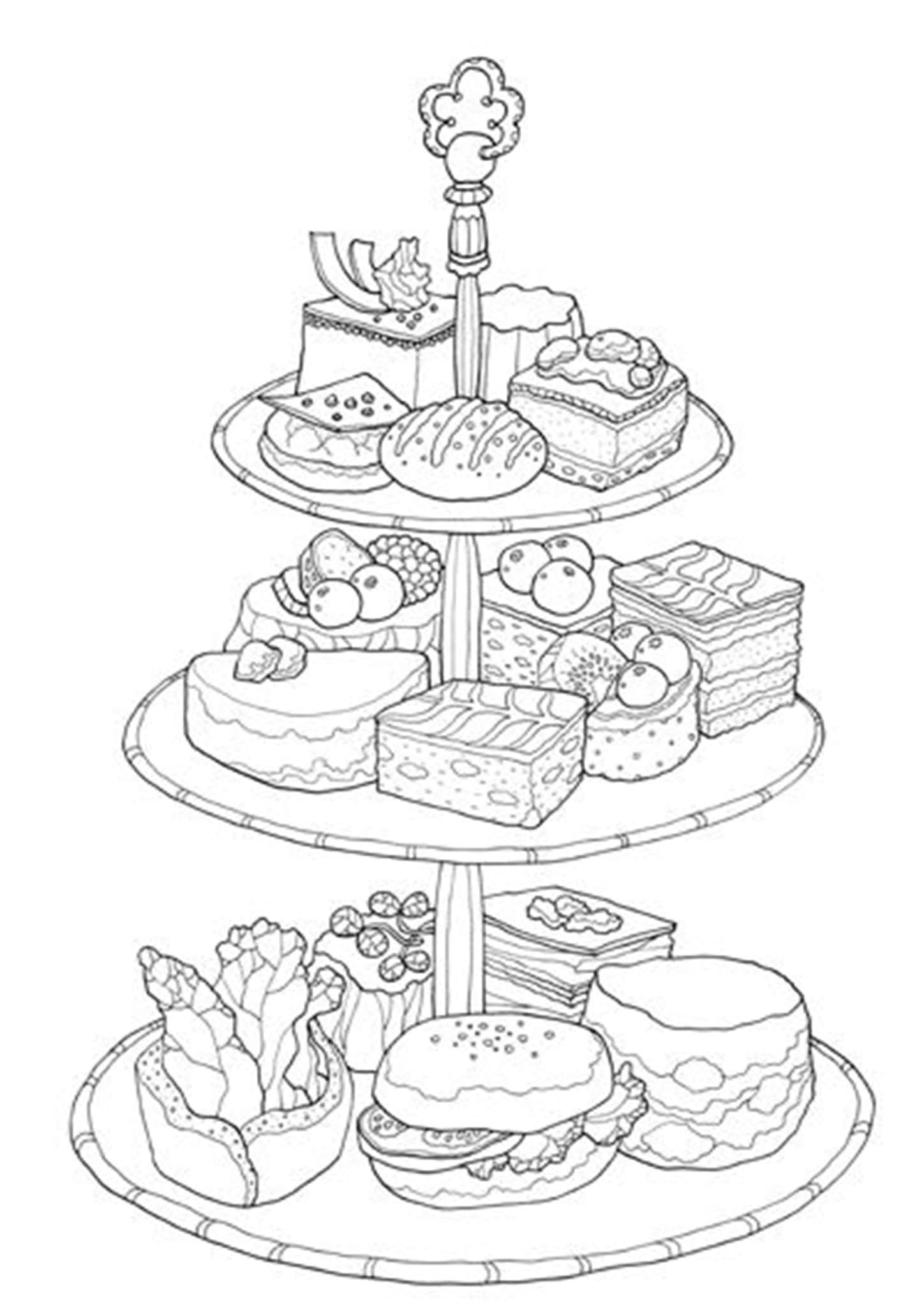 Free Easy To Print Cake Coloring Pages Food Coloring Pages Coloring Pages Cute Coloring Pages