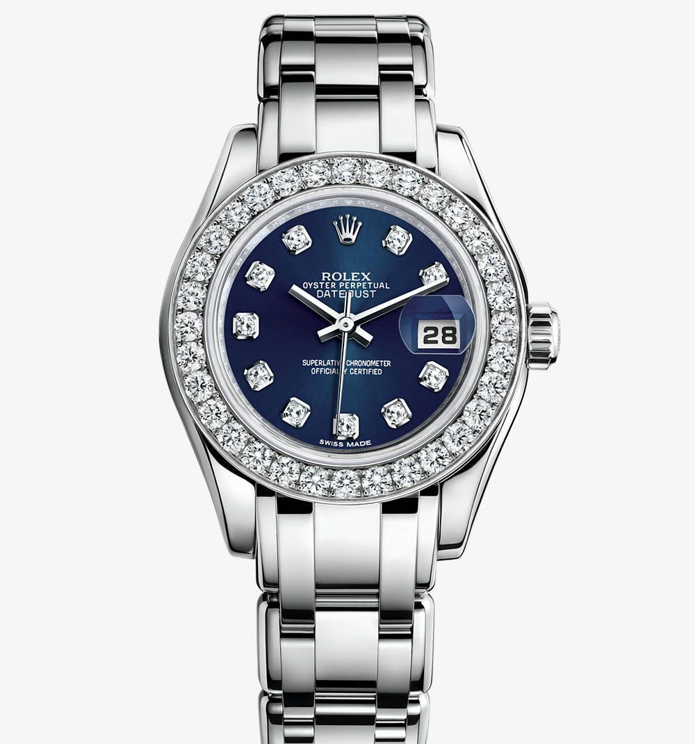 e9c9543d8dd Replica Rolex Lady-Datejust Pearlmaster Watch  18 ct white gold –  M80299-0029