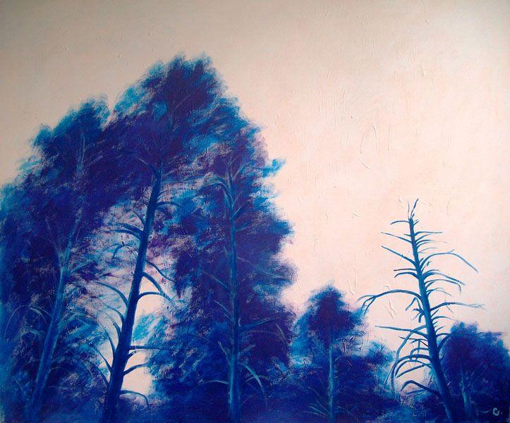 Pinetrees, 100x120, acrylic on canvas, 2010