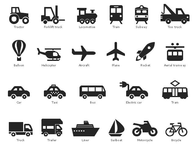 Design Elements Transport Pictograms Pictogram Tow Truck Infographic