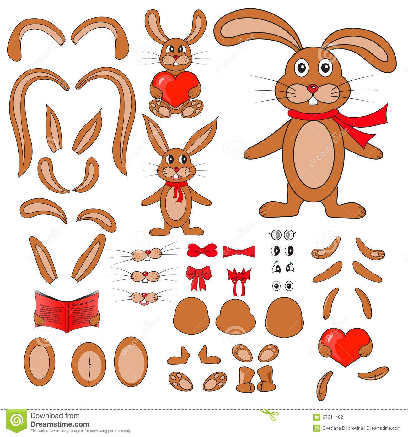 Photo of Body Parts Of The Rabbit In Vector Stock Vector – Illustration of image, body: 67420952