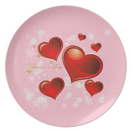 Holiday Plastic Plate-Valentine Hearts Melamine Plate  sc 1 st  Pinterest & Holiday Plastic Plate-Valentine Hearts Melamine Plate | Plastic ...