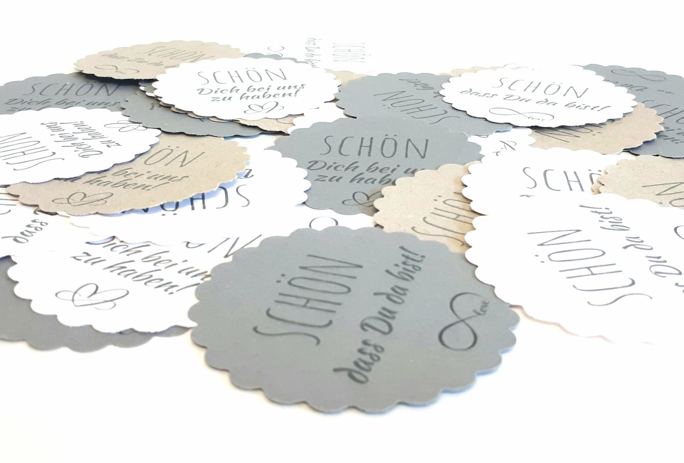 Geschenkeanhanger Etikett Tag Rund Schon Dich Bei Uns Zu Etsy Geschenke Stoffservietten Papiertuten