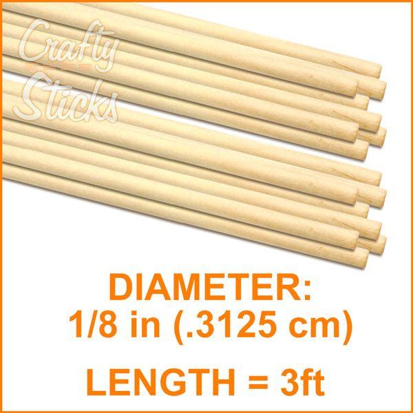 1 8 Round Wood Dowel 3 Length Dowels Round Wood
