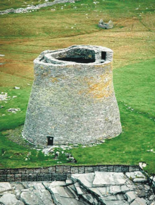 Less Traveled Island Getaways - Broch of Mousa, Shetland Islands The construction of Alban brochs as early as 100 BC and all the other substantial archeological data available such as Cladh Chiaran in Ardnamurchan, Skara Brae in Orkney, Bosta House in Lewis and Machrie Moor Stone Circle in Arran, clearly show a society no less advanced and considerably more successful against the Romans than the Britons were. Brochs were round stone towers with an internal diameter of between twenty-fi... #shetlandislands