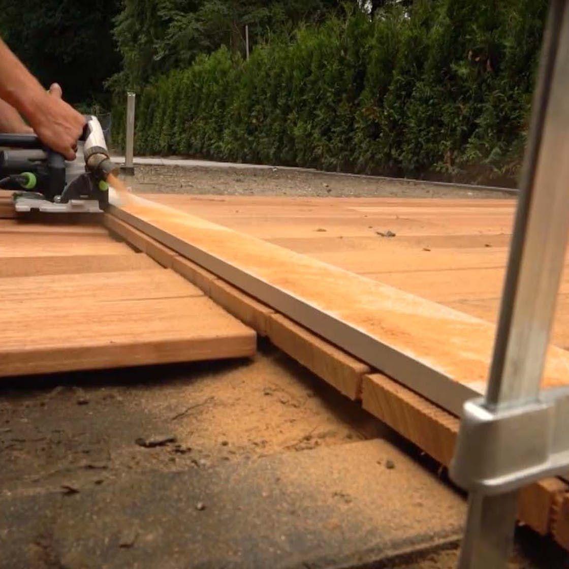 Holzterrasse bauen Schritt für Schritt Holzterrasse