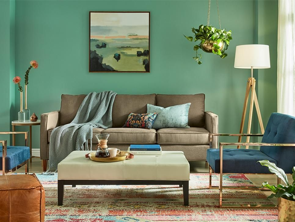 From Mint To Emerald Our Favorite Ways To Decorate With Green Hgtv Green Home Decor Sherwin Williams Colors Blue Living Room