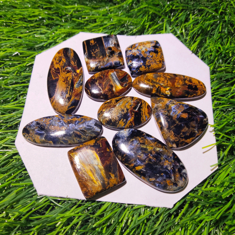 Mix Shape /& Size Lot Beautiful Multi Shade Pietersite Wholesale Mix Lot AAA Quality Natural Namibian Multi Shade Pietersite Cabochon