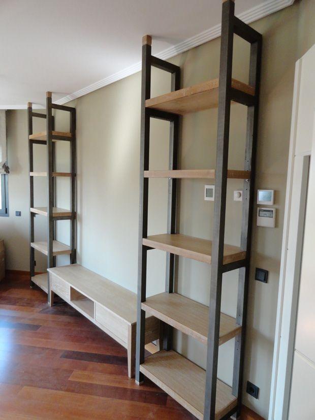 Dise o en madera y hierro buscar con google mobiliario for Diseno de muebles de madera