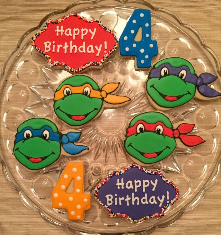 The Teenage Mutant Ninja Turtles Could Make An Appearance At Your Little Boys Birthday Party With These Cookies