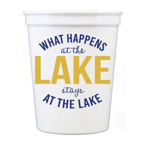 Lake Wedding Ideas: What Happens At The Lake White Stadium Cups