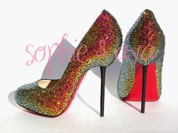1c1018a3cd11 CHRISTIAN LOUBOUTIN (listed by sophie   ava) stunning swarovski crystal  heels  3