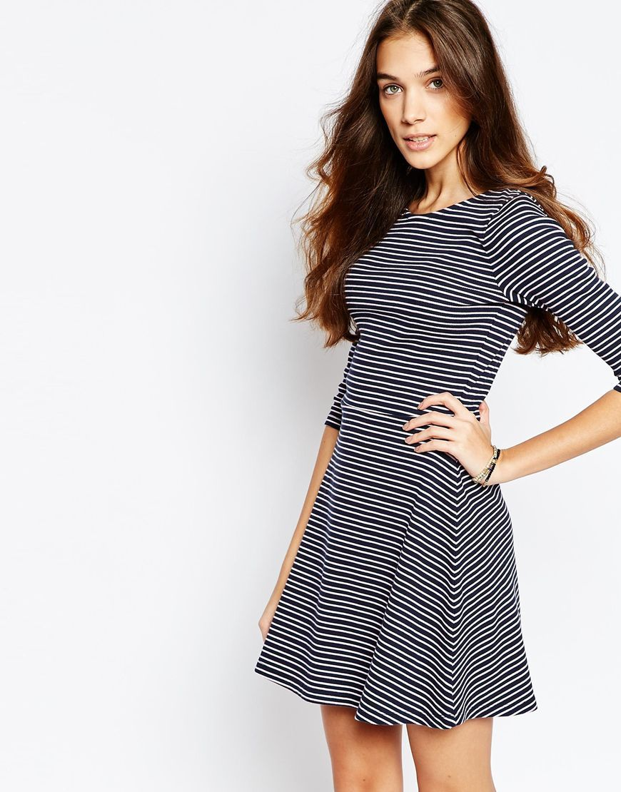 Image 1 of Jack Wills Striped Jersey Skater Dress | To wear | Pinterest
