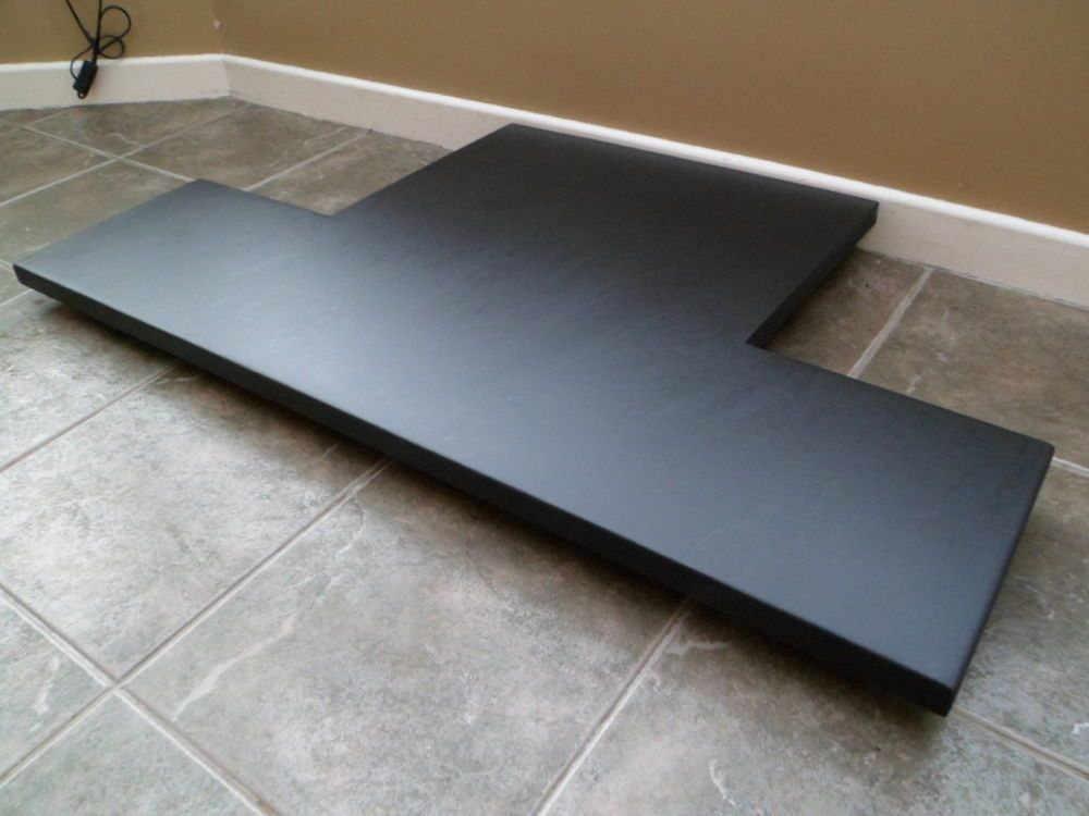Slate Fireplace Hearth Made To Measure Italian Black Fire Stone In Home Furniture Diy Fireplaces Accessories Other