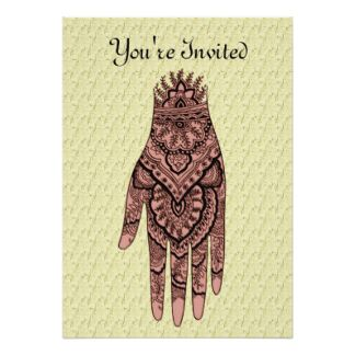 Henna Party Invitation Invitation In 2019 Mehndi Henna Party