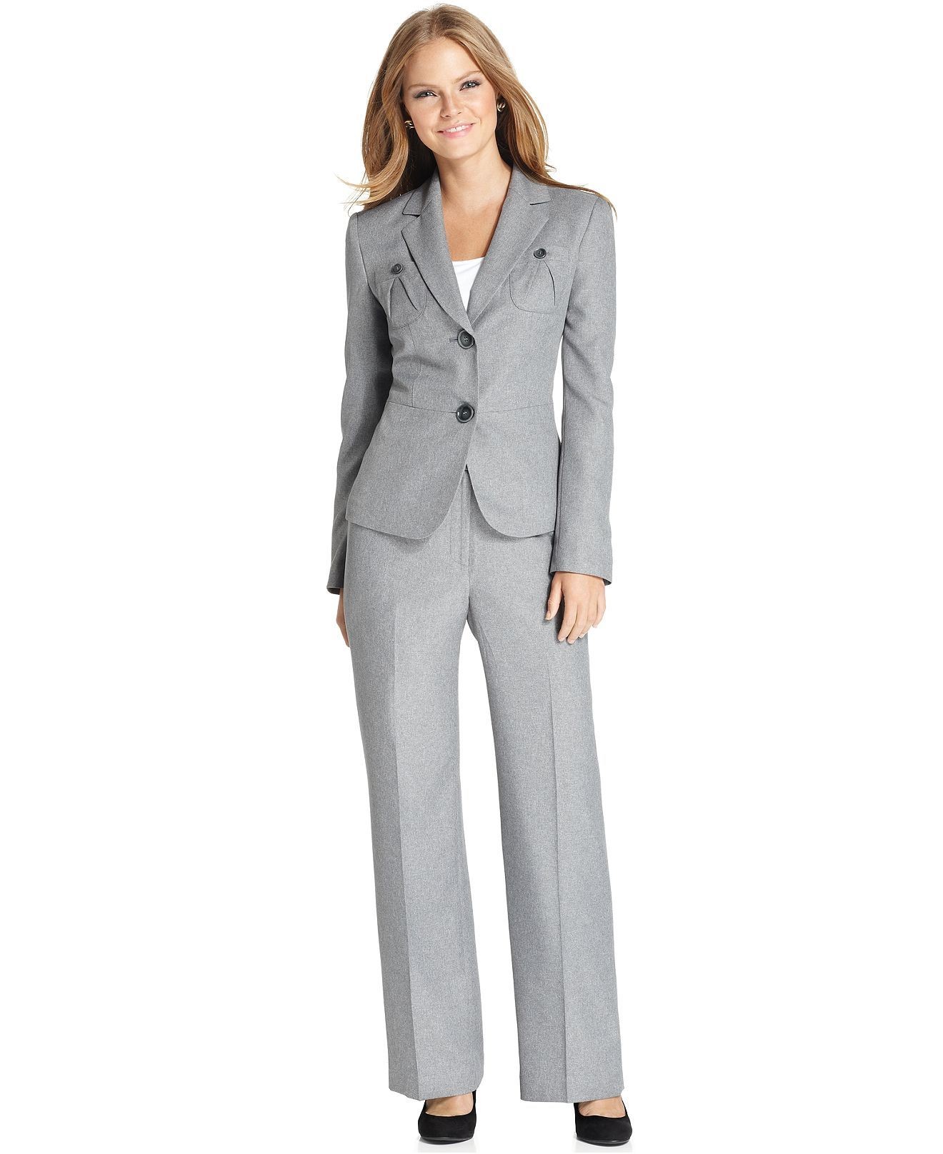 Le Suit Womens Business-Suit-Pants-Sets
