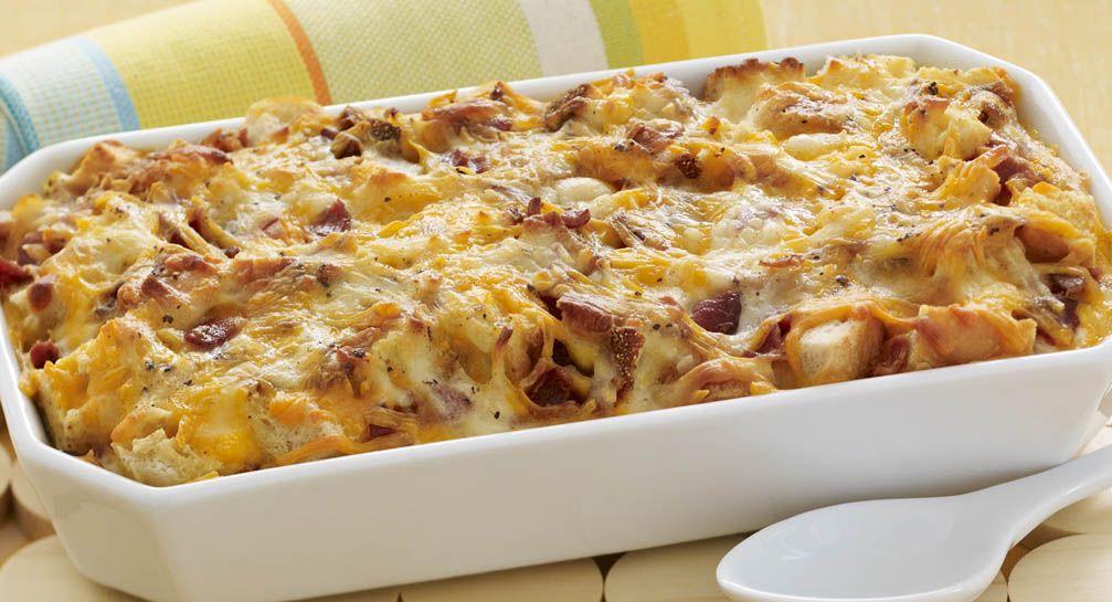 Cheesy Bacon Egg Brunch Casserole | Recipe | Casserole recipes ...