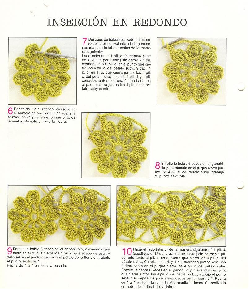 Insertar Puntillas en Redondo - Patrones Crochet | ❤ Crochet ...